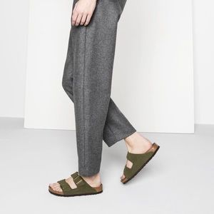 Birkenstock Arizona Suede Leather Sandals Sz 38